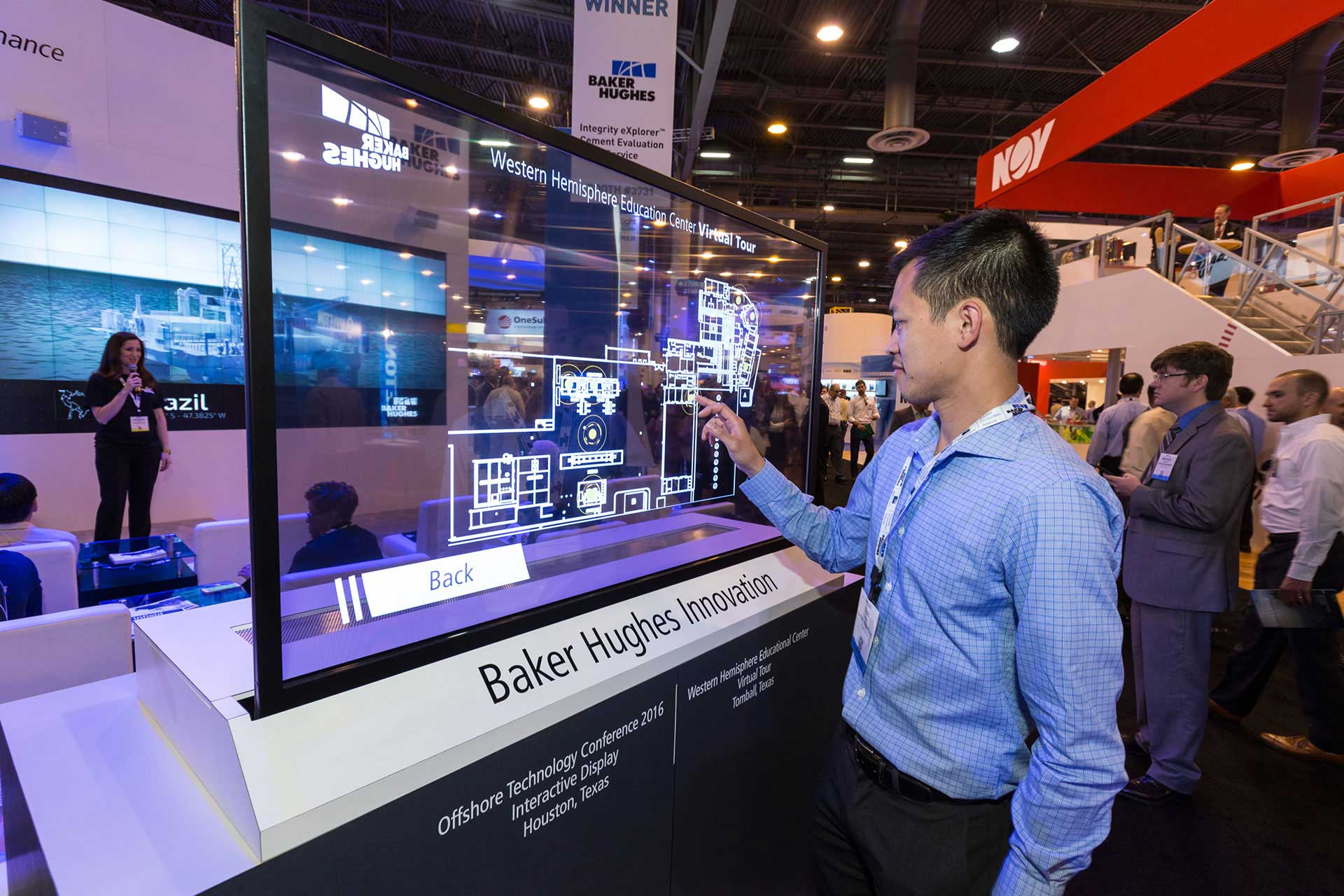 Baker hughes transparent oled screen